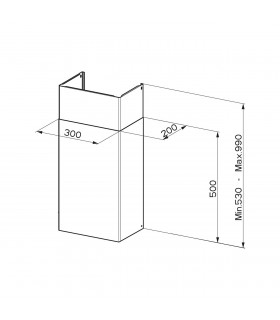 Faber Chimney Kit A500+A500 112.0250.289 Stainless Steel